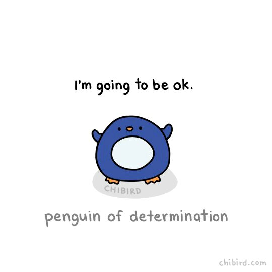 Have this chubby penguin of determination to inspire you!