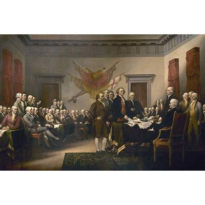 "Buyenlarge Declaration of Independence by John Trumbull Painting Print Size: 24"" H x 36"" W x 1.5"" D"
