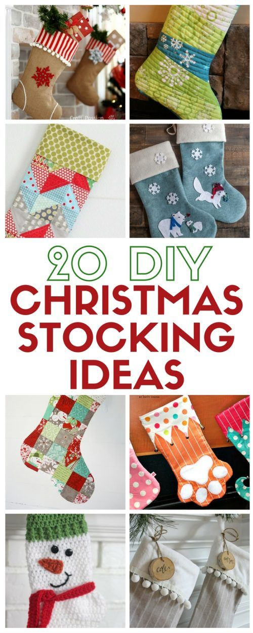 Learn how to make 20 DIY Chrismas Stocking Ideas. Each with its own easy craft tutorial and pattern for kids, adults and even pets!