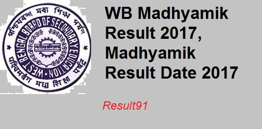 UPDATE:- The WB 10th Class Results 2017 likely to be released on End May 2017 but there is confirmed date from wb Board. WEST BENGAL MADHYAMIK 10th BOARD RESULT 2017: -    West Bengal board of secondary education  (WBBSE) is can release the result anytime now.