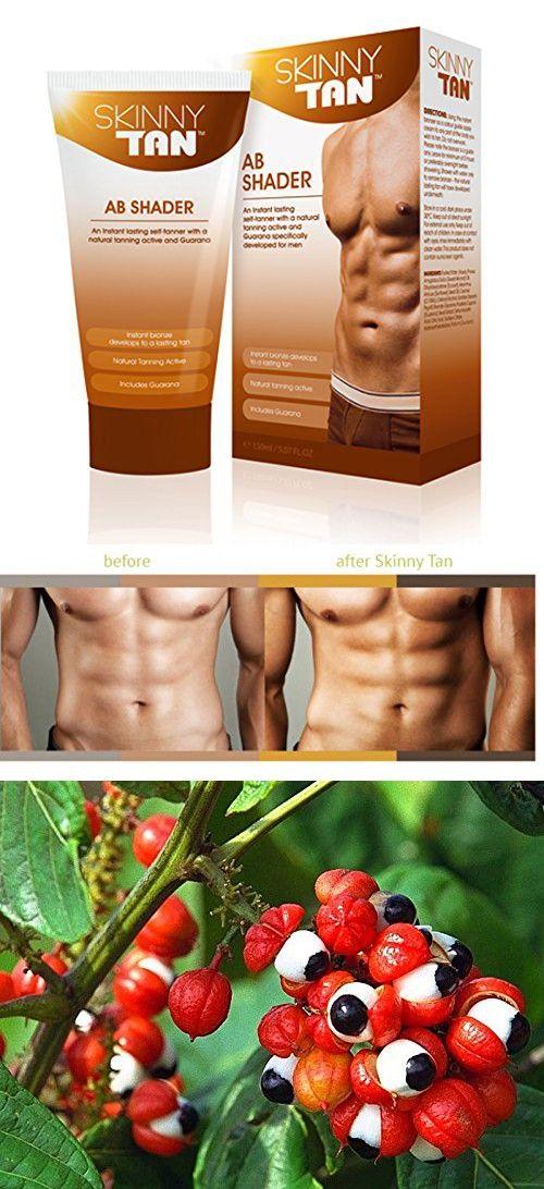 Skinny Tan Self-Tanning Men's Lotion Ab Shader - Natural Tanning