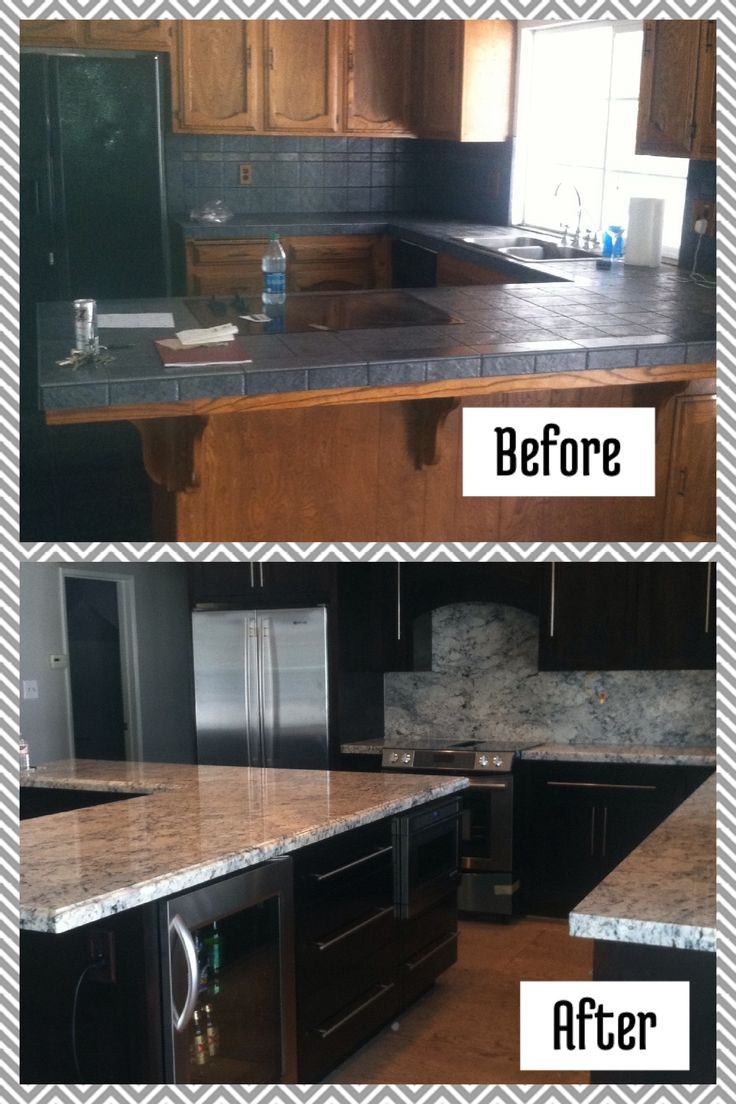 17 best images about before after on pinterest for Flooring before cabinets
