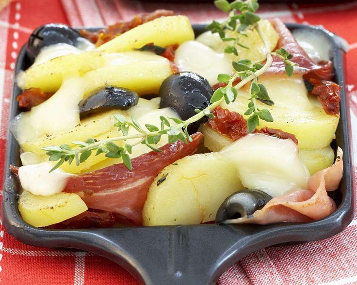 Raclette mit Schinken   Zeit: 10 Min.   http://eatsmarter.de/rezepte/raclette-mit-schinken