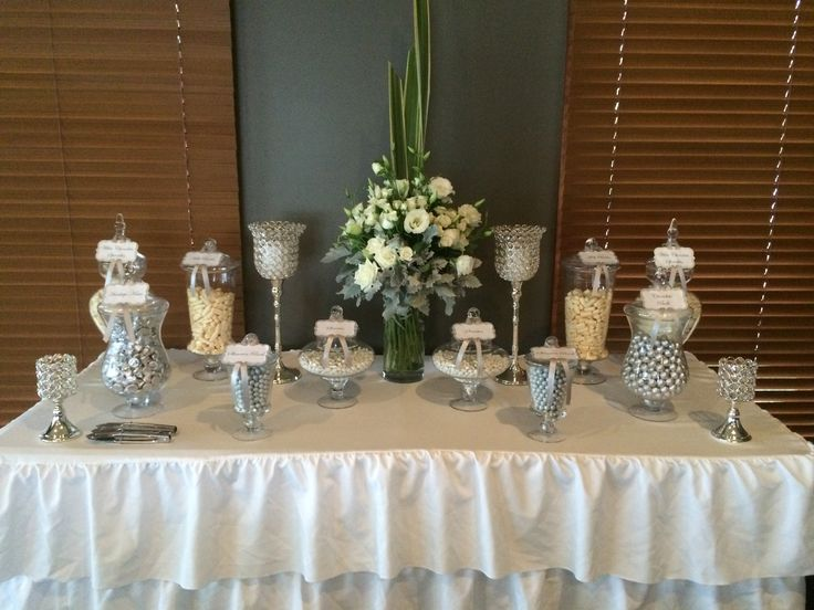 Sally & Matt's Traditional Candy Buffet By Platinum Invitations & Candy Buffets