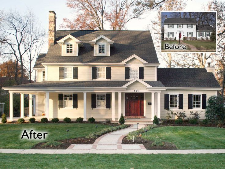 35 best painted brick houses images on pinterest Brick home plans with wrap around porch
