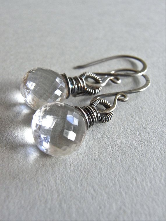 The Leda earrings - gorgeous faceted AAA rock crystal quartz carefully wired with fine and sterling silver.  Finished with my signature ear wires and heavily oxidised - petite and dramatic!: Silver Colour, Aaa Rocks, Rocks Crystals, Silver Oxidi, Leda Earrings, Sterling Silver, Earrings Sterling, Crystals Quartz, Ears Wire