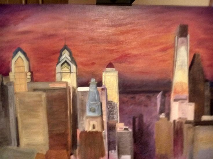 Step #6 of a Philadelphia Skyline