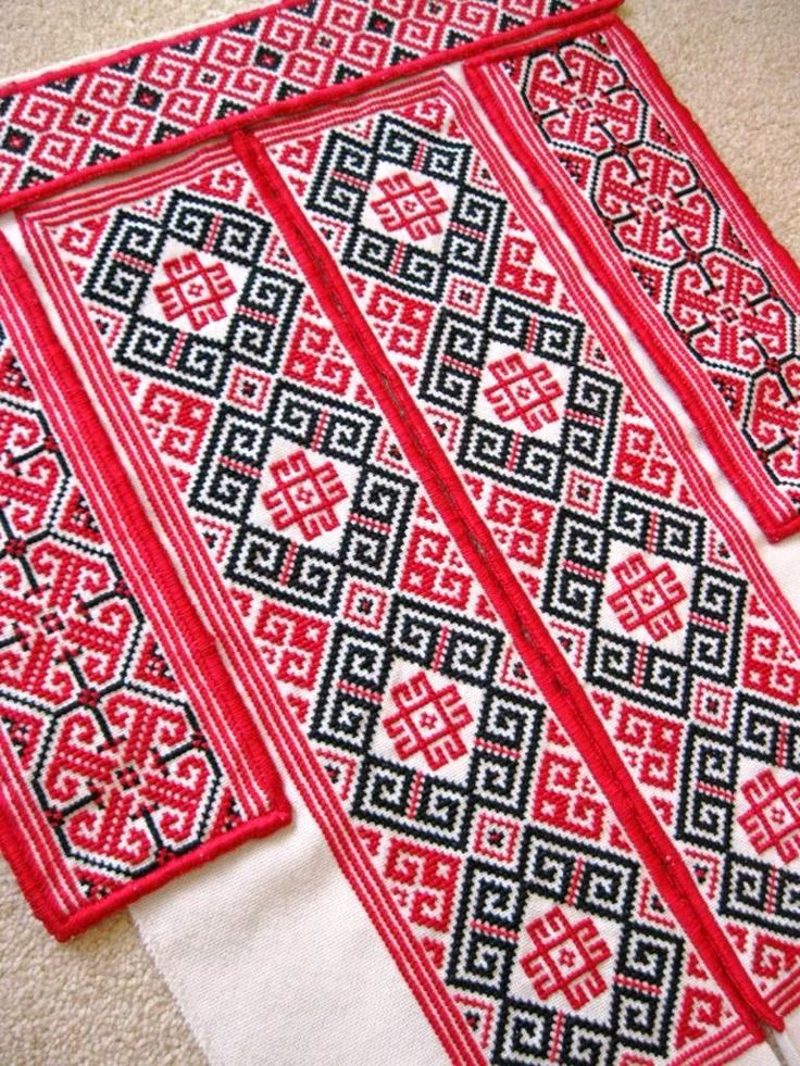 Embroidered collar, cuffs, and chest panels for a man's traditional Ukrainian 'sorochka', or shirt, in a style and motifs popular in the Horodenka and Sniatyn regions of Carpathian Western Ukraine (Hand embroidered by Dave Melnychuk)