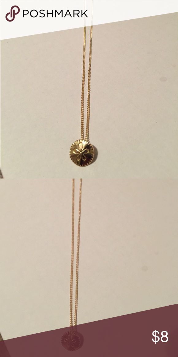 {4for$20} tiny sand dollar necklace gold {4for$20} save money by buying more! Any item with {4for$20} in the beginning of the title choose any 4 items and offer $20 and I will never refuse! Jewelry Necklaces