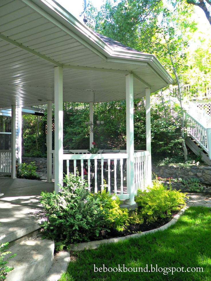 Corner gazebo on the front porch room addition pinterest for House plans with gazebo porch