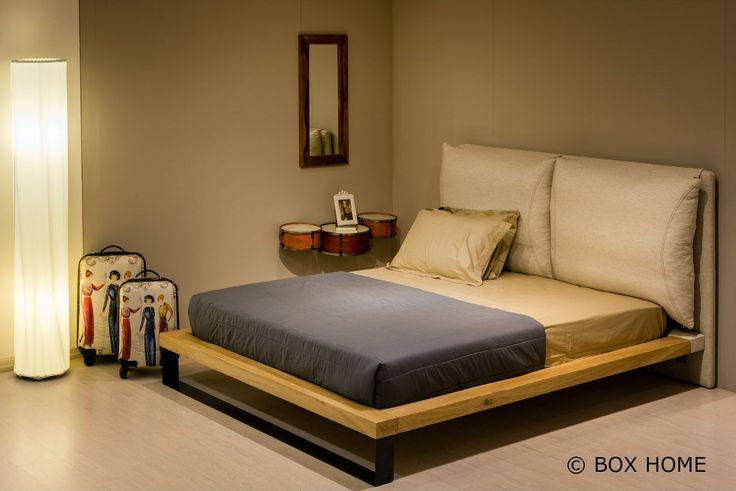 Κρεβάτι DANTE κρεβάτι διπλό με κεφαλάρι Puff  bedroom industrial style