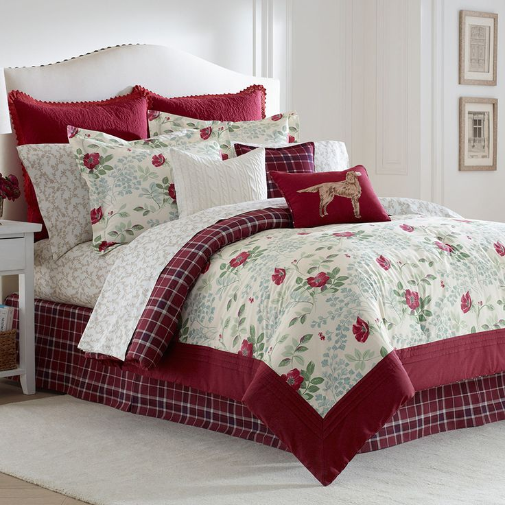 Laura Ashley Ella Comforter Set · Red ComforterBedding ...