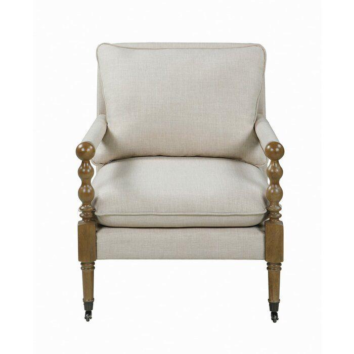 Rosalind Wheeler Upholstered Accent Chair Beige Wayfair