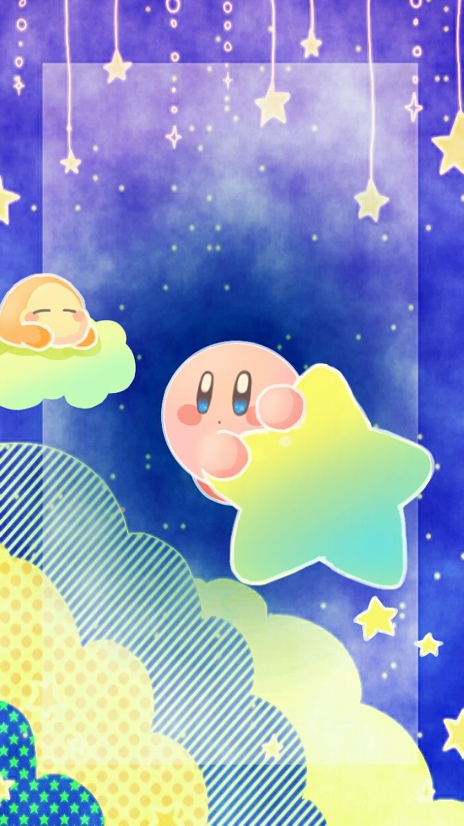 Aww such a cute artwork of Kirby and a Waddle Dee