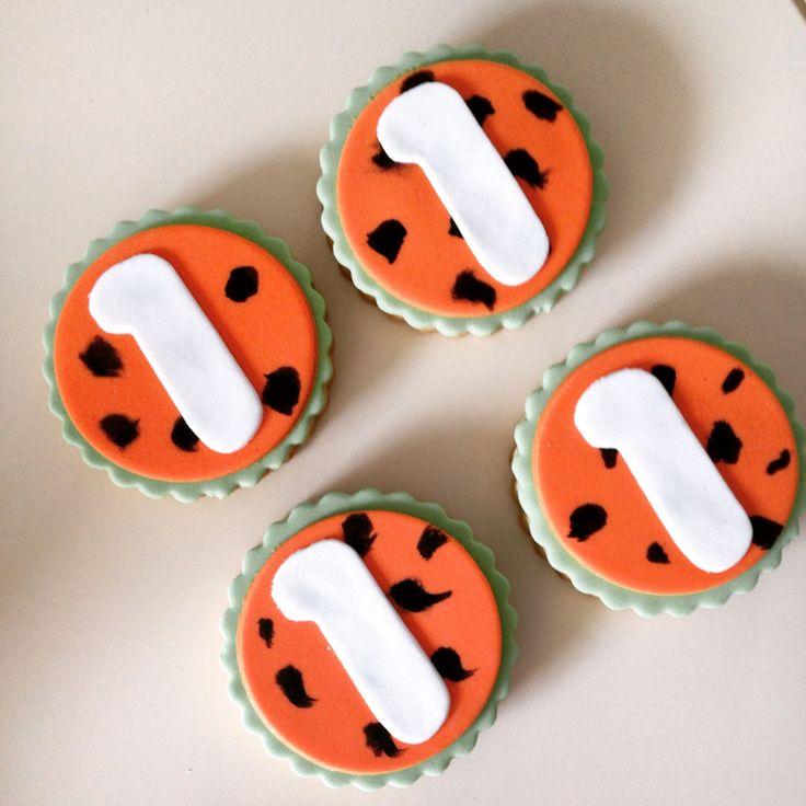 First birthday flinstones cookie