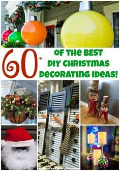 Over 60 of the BEST DIY Christmas Decorations & Craft Ideas! More