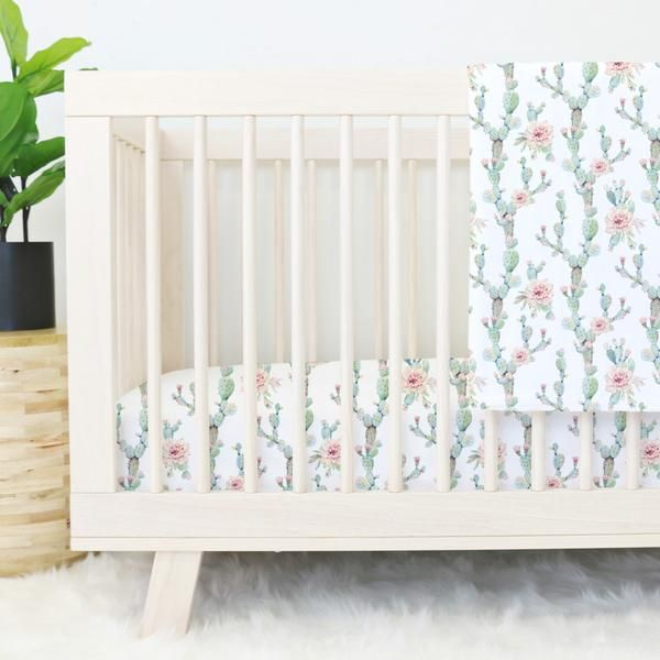 This is the perfect bedding for baby girl's southwestern boho nursery!!