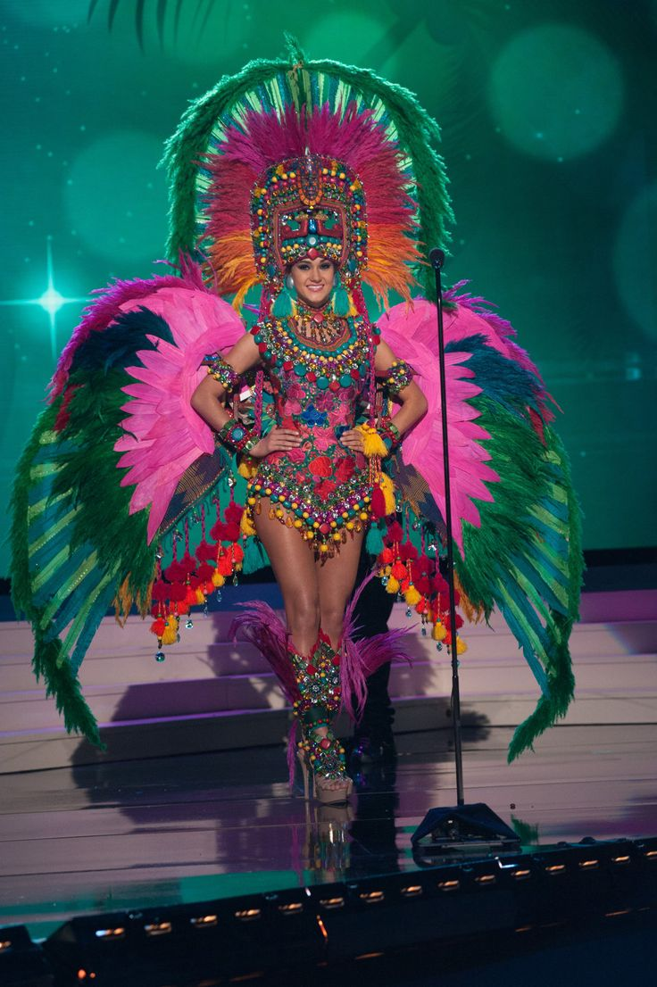 Miss Universe Guatemala: https://www.reddit.com/r/pics/comments/2teprr/all_miss_universe_national_costumes_2015/