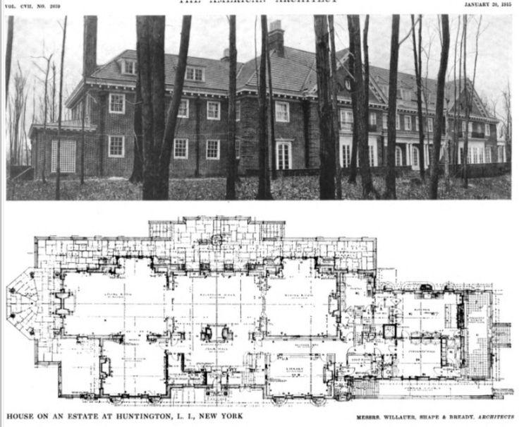 Long island mansion plan 1 floorplans house for Island home plans