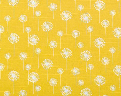 a more golden-rod yellow, this color has been trending (and i love this color) but i fear it is on it's way out in favor of the brighter, more neon yellow: Corn Yellow, Pattern, Small Dandelion, Color, Yellow Dandelion, Fabrics, Dandelions, Upholstery Fabric, Room