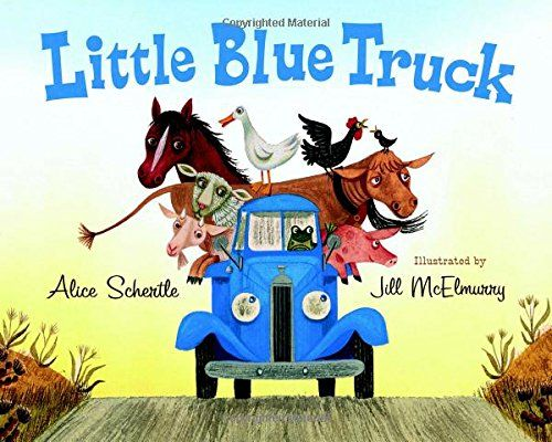 """Little Blue Truck never disappoints! This is a favorite of ours, and it  sounds like we aren't the only ones who love this book.This week your  little one will learn all about farm animals and the sounds they make. What  a perfect book this time of year...hit up yourlocal county fair to see  some of these animals in person!  It doesn't matter how big or small your munchkin is,it's never too early  to teach them about teamwork.This cutebook does just that.""""A lot depends  on a helping…"""