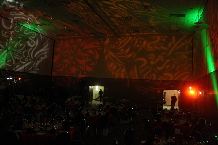 Lighting and gobo finished product for dinner room