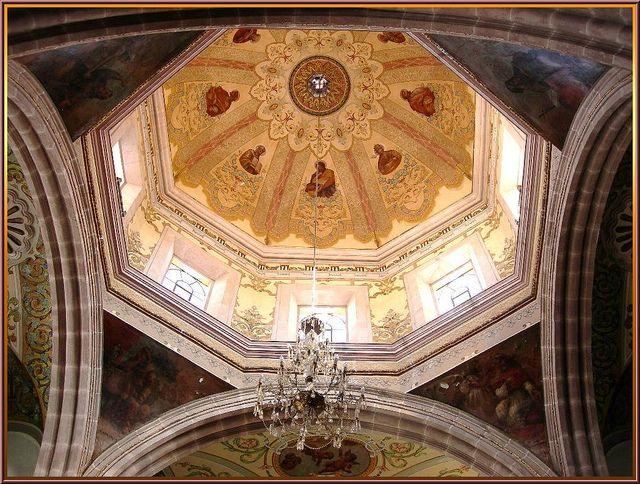 Interior, Dome, Chapel -- Templo de San Diego, Aguascalientes