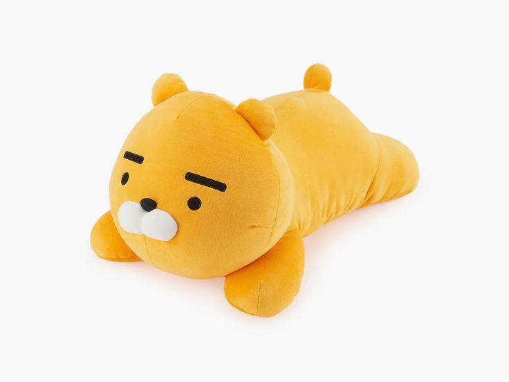 Kakao Friends Authentic Body Pillow Ryan, Yellow Soft Bear Kids Bed Room Cushion    eBay