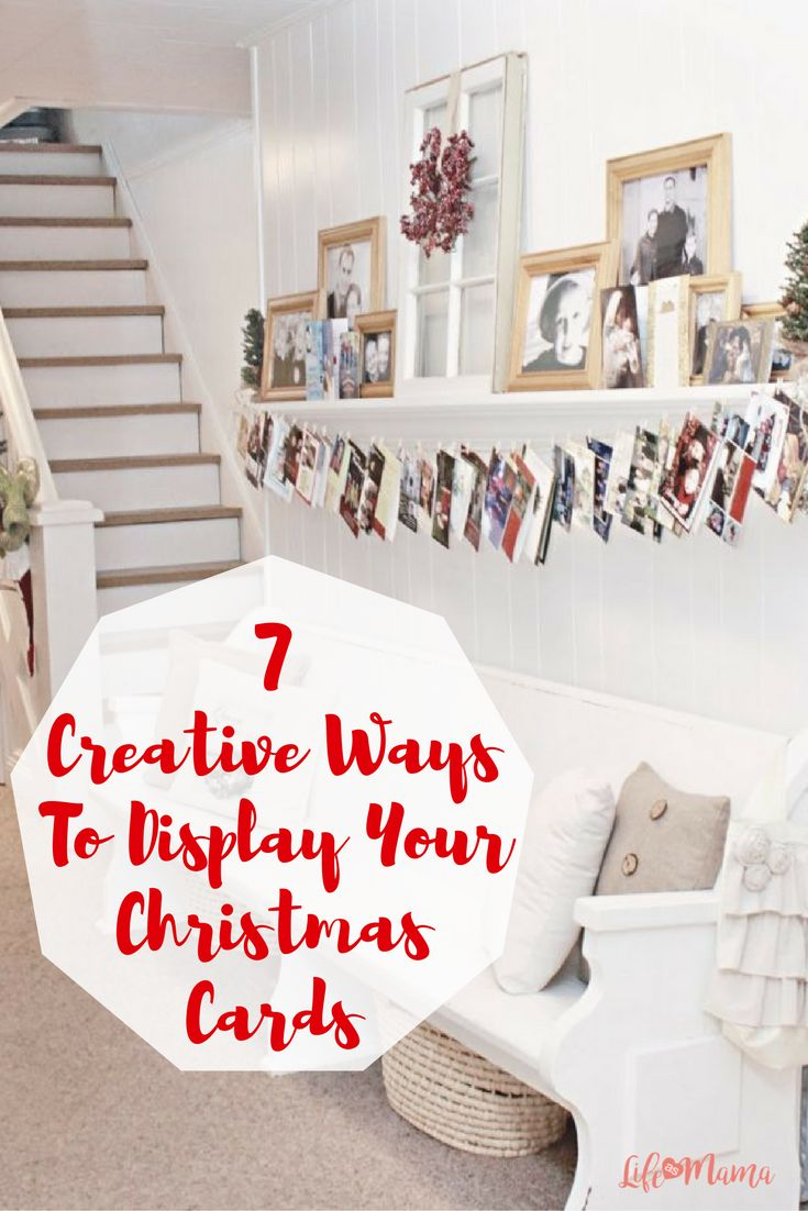 We all love getting Christmas cards, but it's hard to find a place to display them all. I've rounded up some of my favorite creative ways to display your cards this year!