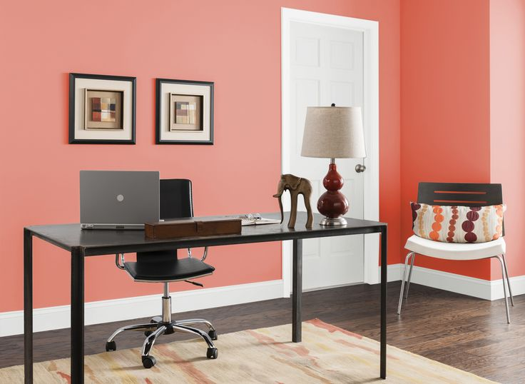 Office In Bay Coral Home Office Room Paint Colors