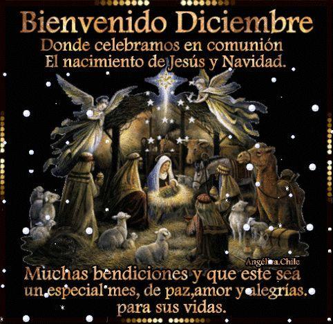 Bienvenido Diciembre. Donde celebramos en comunión el nacimiento de Jesús y Navidad. Muchas Bendiciones y que este sea un esp...