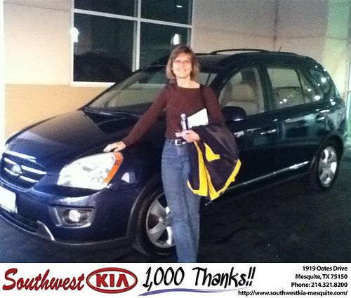 Thank you to Cheryl Andrews on your new 2007 #Kia #Rondo from Mike Stanton and everyone at Southwest Kia Mesquite! #NewCar