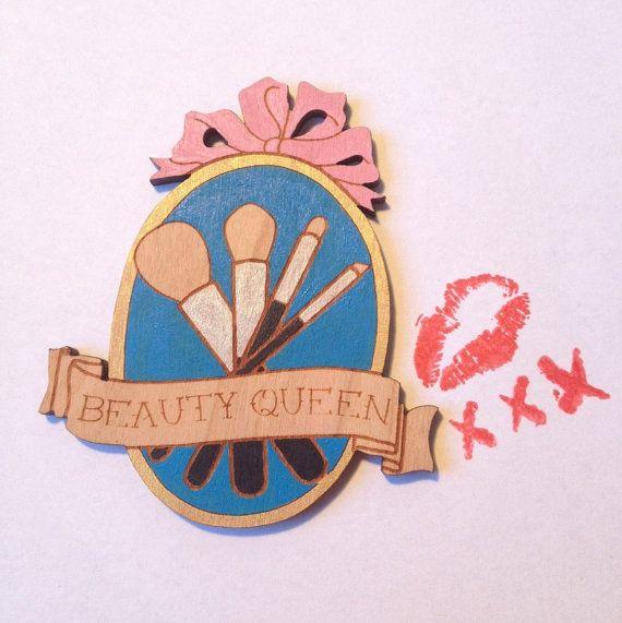 Beauty Queen Brooch by LULUandLIPSTICK on Etsy