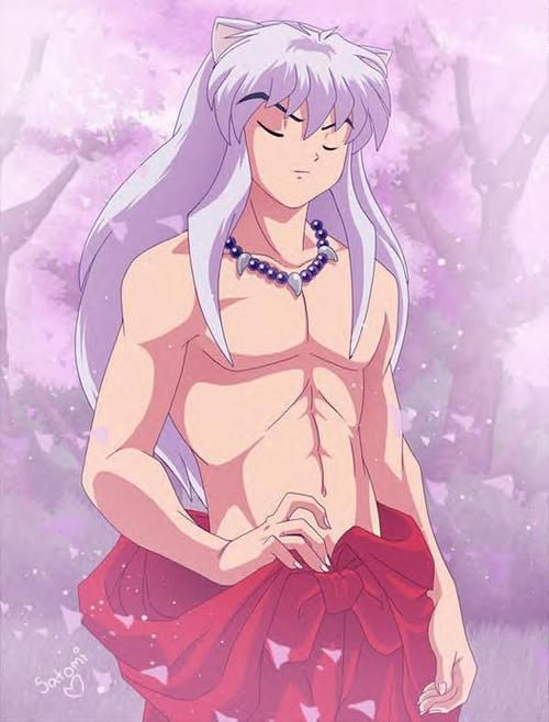 Inuyasha--it's okay to wanna jump a cartoon character, right? This is the only anime show I like. Look at him. Look. At. Him.