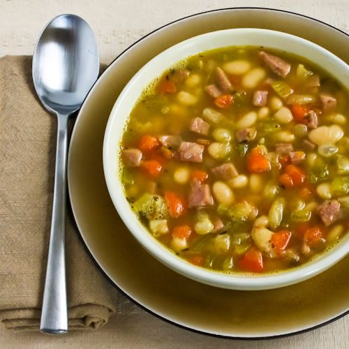 Recipe for White Bean Soup with Ham and Rosemary [from Kalyn's Kitchen ...