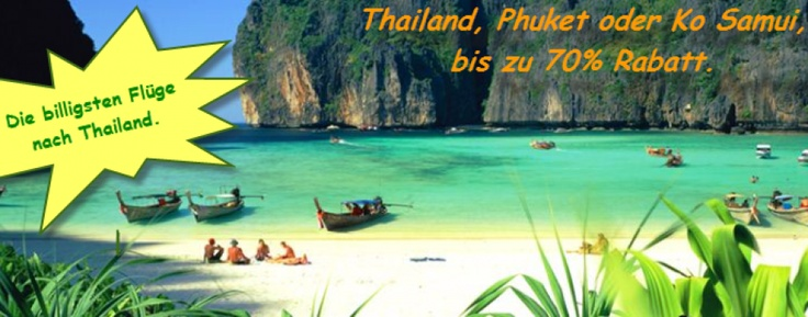 Die billigsten Flüge und Hotels nach Thailand und Weltweit. Preisvergleich von über 800 Flugverbindungen.   Im Durchschnitt immer günstiger als Vergleichbare Anbieter. Bis zu 70% Rabatt.   ==> http://superbilligflugreisen.info