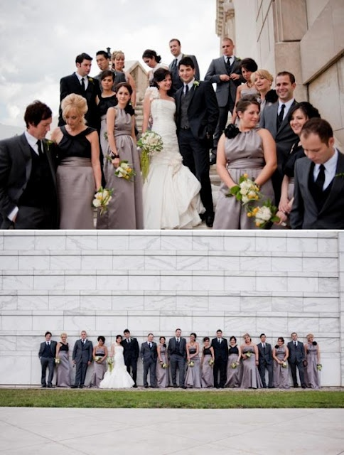 Grey and black wedding party