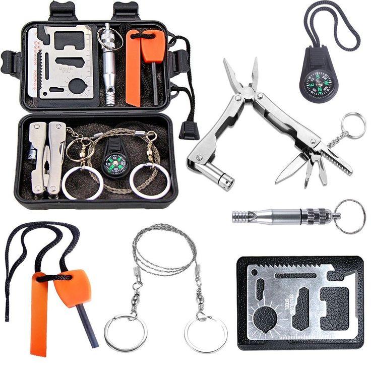 Survival Kit EMDMAK Outdoor Emergency Gear Kit for Camping Hiking Travelling or  #EMDMAK
