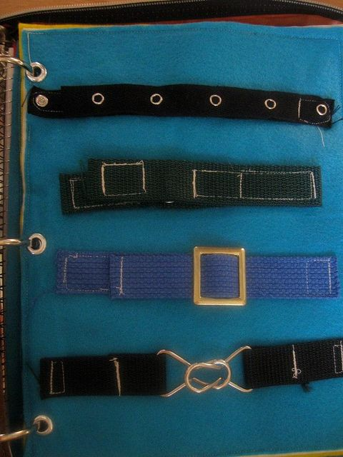 Here's an idea for hand strength and coordination, as well as practice in independence concepts. Make a Busy book of belts, clasps, snaps, and buttons. Here's one example.