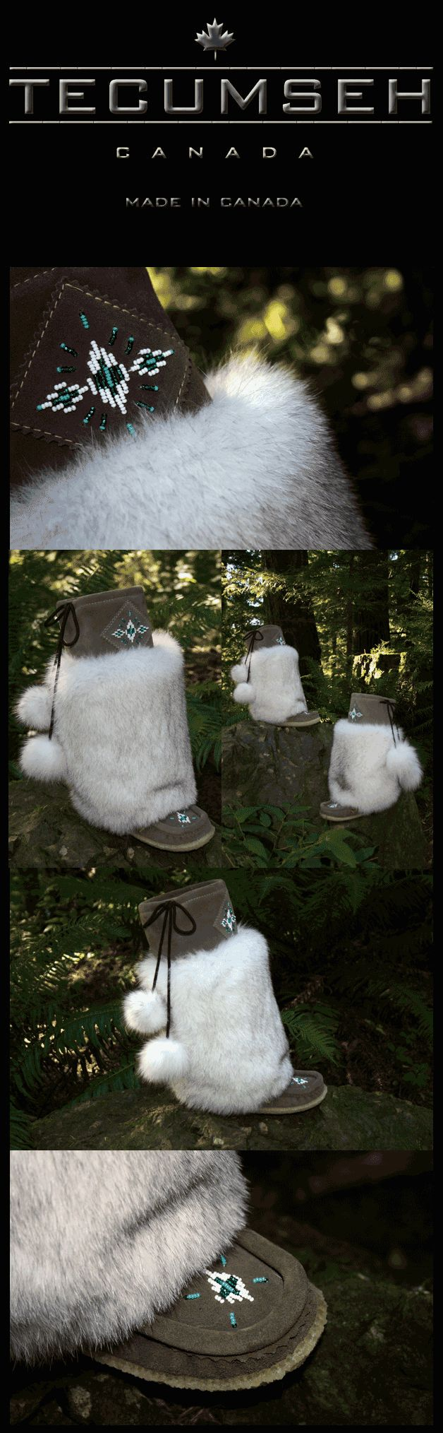 The Norquay - Luxurious Blue Fox Fur, Suede Mukluks By Tecumseh