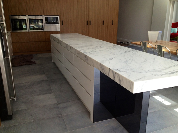 Marble kitchen bench top