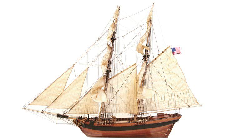 Goélette DOS AMIGOS. Maquette de bateau.