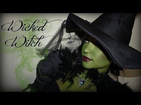 Amazing Smlx0   WICKED WITCH HALLOWEEN TUTORIAL - YouTube