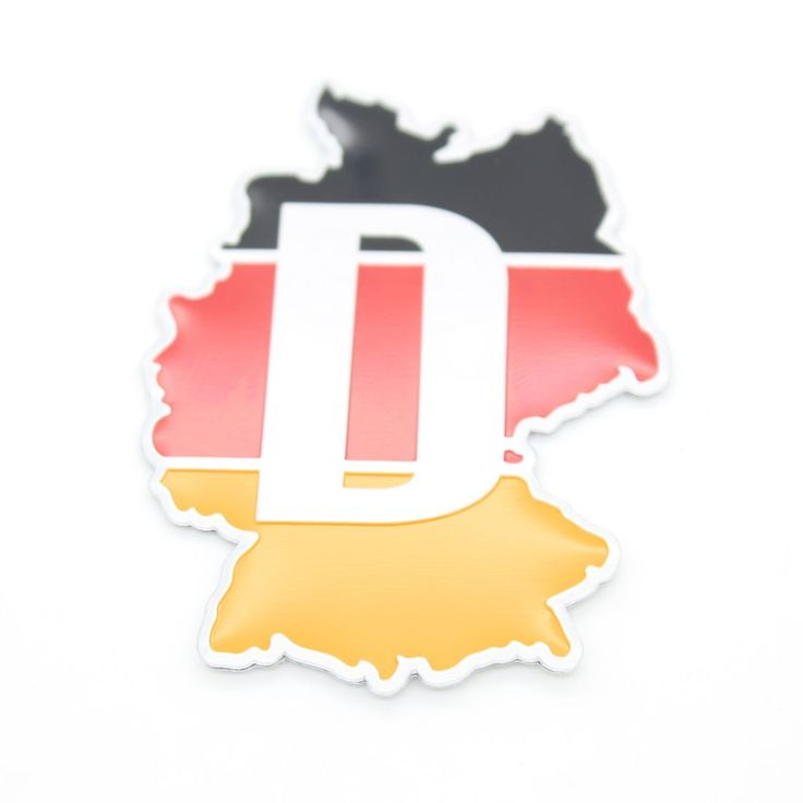 Dongzhen Car Styling 3D Metal Germany Deutschland Flag Map Car Sticker Emblem Badge For Ford BMW Audi Benz Opel Skoda Renaul VW
