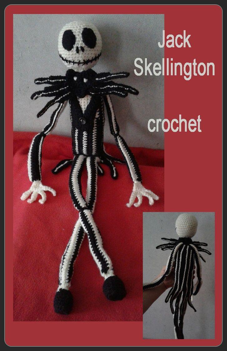 Jack Skellington. crochet work. by Sheila