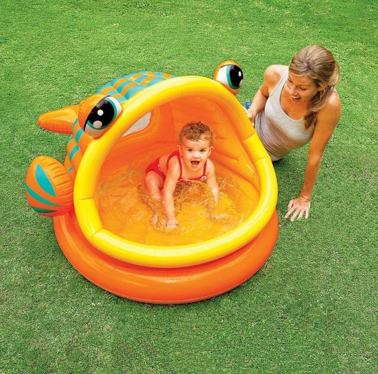 Baby Inflatable Pool Swimming Water Fun Toy Outdoor Shade Play Intex Toddler #Intex