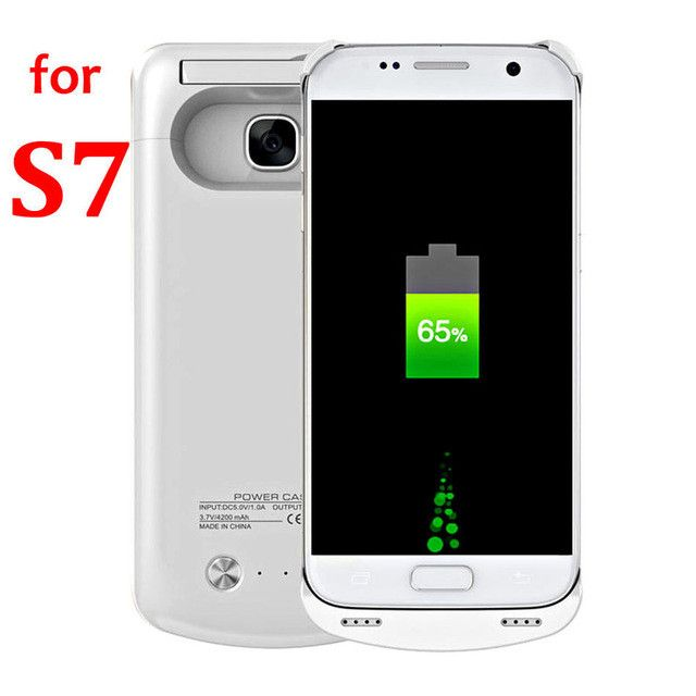 S7 Battery Case Charger For Samsung Galaxy S7 Edge Case Power Bank Charge Slim Thin Charger Cover External Battery Backup Extra