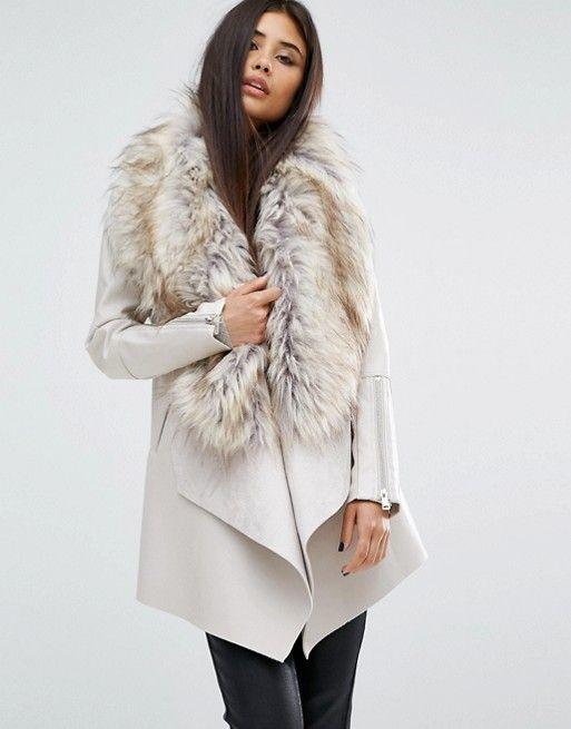 17 meilleures id es propos de manteau col fourrure sur pinterest manteau - Site de laine pas cher ...