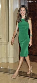 The Princess of Asturias. Letizia Ortiz Rocasolano. Wife of the Crown Prince of Spain - not afraid of color.: Princesa Letizia, Queen Gladness, Letizia Ortiz, Letizia Dresses, Princesses Letizia Of Spain, Queen Joy, Asturias Letizia, Green Dresses, The Royals