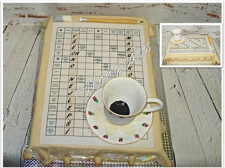 dort křížovka - crossword cake